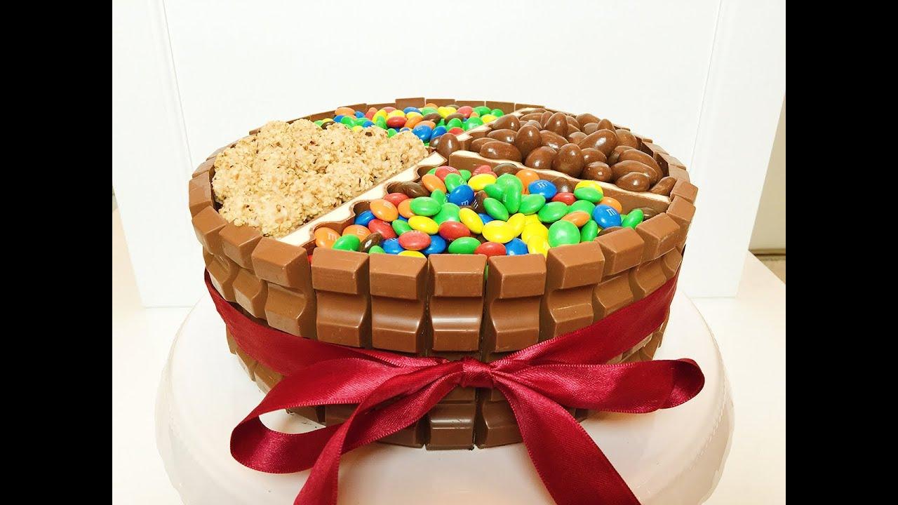 Kinderschokoladen Torte  Geburtstagstorte  Candy Cake