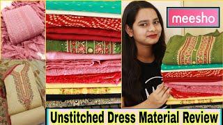 Meesho Dress Material haul Party wear Dress Material Haul Unstitched Dress Material Meesho meesho