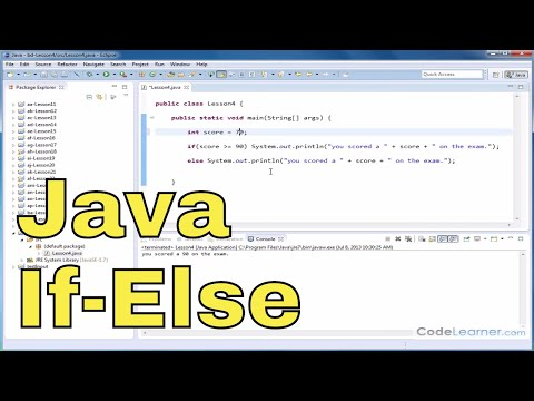 Java Tutorial - 04 - Using If-Else To Make Decisions