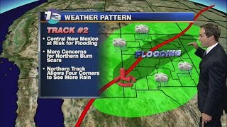 Scattered NM showers leading to more rain Thursday