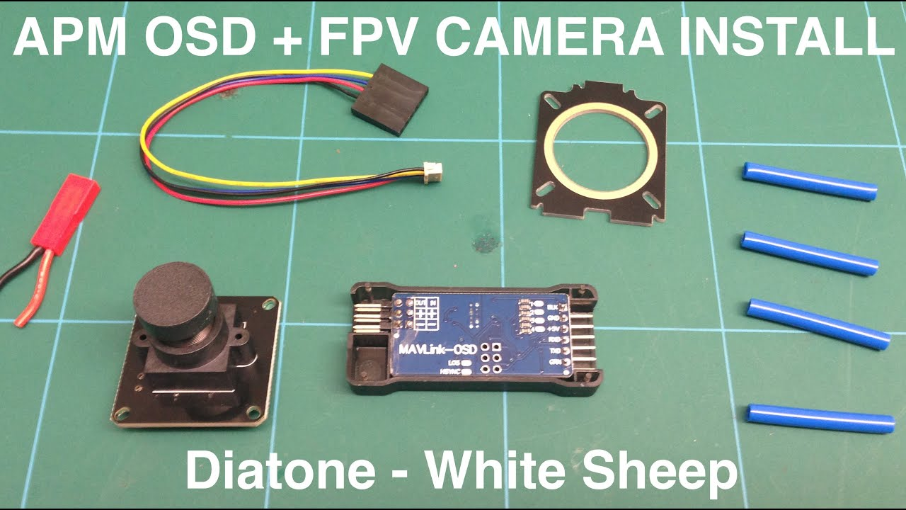 themanlab fpv osd install diatone white sheep apm quad build
