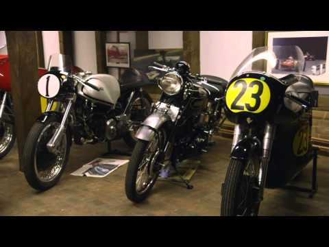 John Surtees shows his garage to Paul Hollywood.