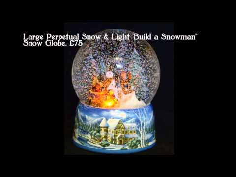 German Musical Snow Globes from Barretts - Build a Snowman