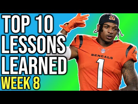 Download Top 10 Lessons Learned - Week 8 Fantasy Football