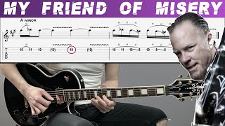 METALLICA - MY FRIEND OF MISERY (Guitar cover with TAB | Lesson | Tutorial)