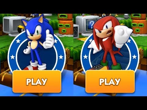 Sonic Dash Gameplay - SONIC VS KNUCKLES
