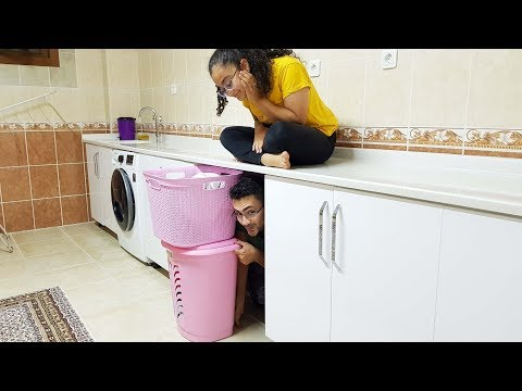 AT HOME Hide And Seek / EVDE SAKLAMBAÇ ABİMİ BULAMIYORUZ