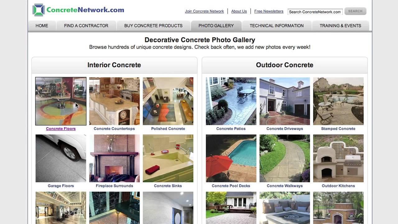 Concrete Design Ideas - YouTube