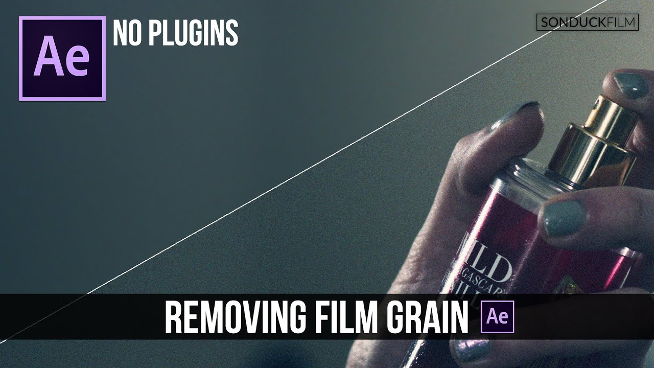 Remove Video Noise Film Grain In After Effects No Plugins Youtube