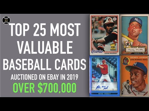 Top 25 Most Expensive Baseball Cards Sold On Ebay In 2019 January