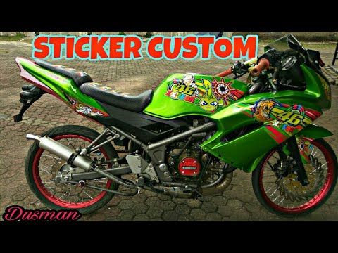 CINEMATIC CUTTING STIKER NINJA RR 2014 HIJAU #MOTOVLOGNDESO