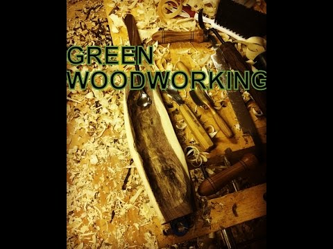 Green Woodworking Bowl Carving