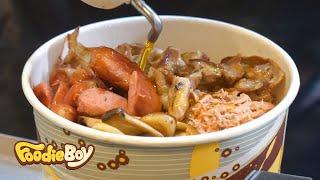 서울 노량진 길거리 음식 / 황제컵밥(Emperor Cupbop) / Korean Street Food / Noryangjin-Dong, Seoul Korea