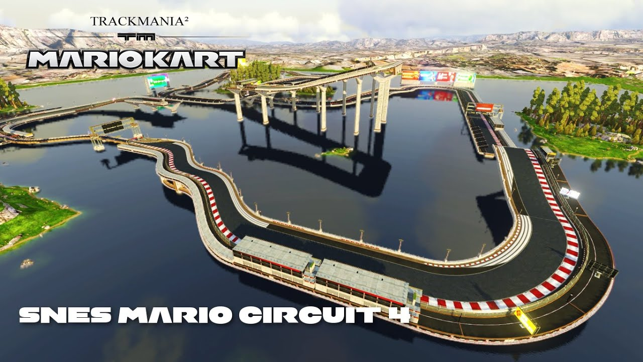 mario kart trackmania snes mario circuit 4 youtube. Black Bedroom Furniture Sets. Home Design Ideas