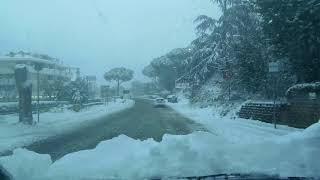 Neve a roma nord febbraio 2018