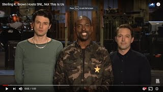 connectYoutube - Sterling K. Brown Hosts SNL (This just premiered on NBC)
