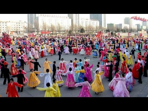 North Koreans hold open-air dances in Pyongyang as tensions rise