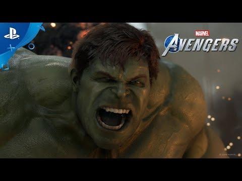 «Мстители Marvel» | Кадры игрового процесса в прологе «День Мстителей» | PS4