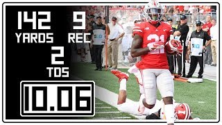 Parris Campbell Full Highlights Ohio State vs Indiana || 10.06.18 || 9 Rec, 142 Yards, 2 TDs