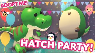 HATCHING A T-REX FIRST TRY? 🦖 🥚 Fossil Egg Hatch Party in Adopt Me! on Roblox