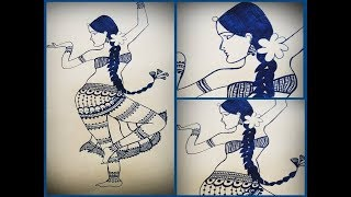 indian dancing lady | speed draw | be creative