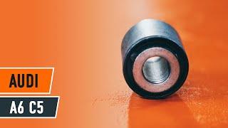 Kako zamenjati Drzalo, vlezajenje stabilizatorja AUDI A6 Avant (4B5, C5) - spletni brezplačni video