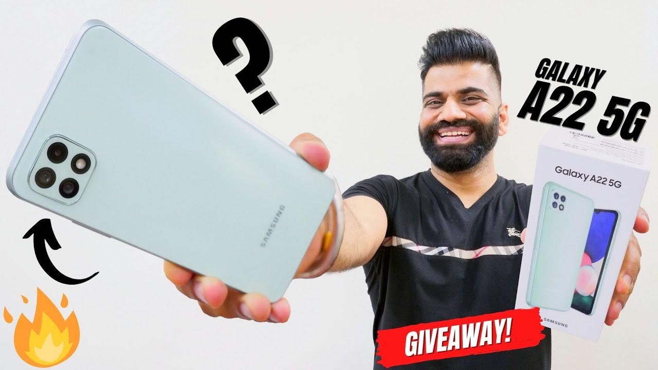 Samsung Galaxy A22 5G Unboxing & First Look | Dimensity 700 | 11 5G Bands | 90Hz FHD+ | Giveaway🔥🔥🔥