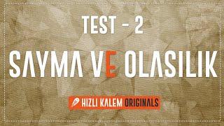 SAYMA VE OLASILIK ORİJİNAL SORULAR TEST 2