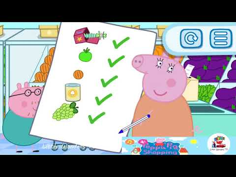 Peppa Pig going to shopping| English | Education Compilation