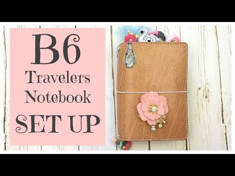 Travelers Notebook Setup: B6 Chic Sparrow
