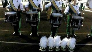 Huntington HS Drumline - Blues in the Night - In the Lot