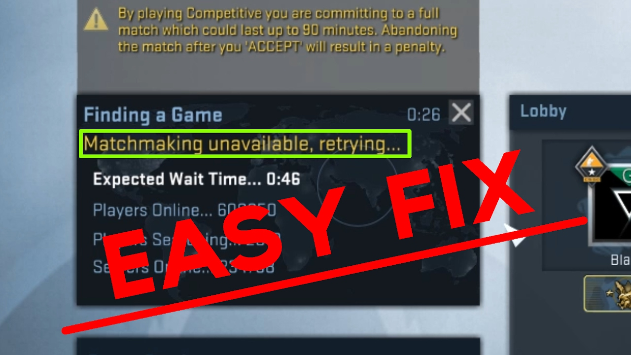 Matchmaking doesnt work csgo