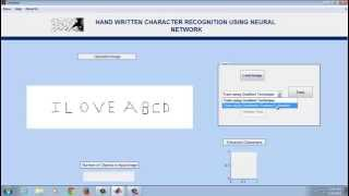 Artificial Neural Network using MATLAB - Handwritten Character Recognition