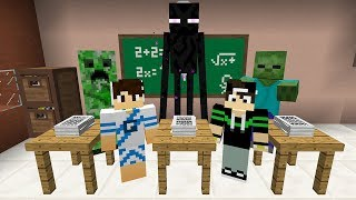 FOMOS PARA A ESCOLA MONSTRO NO MINECRAFT!!