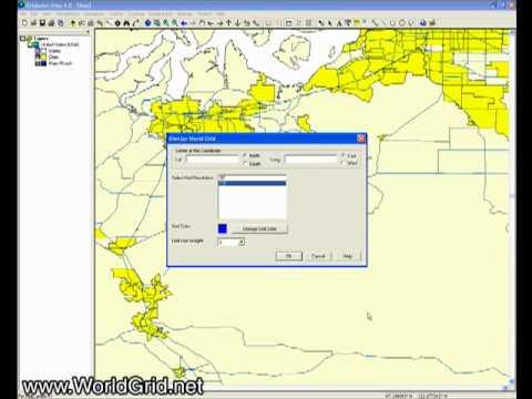 The Map Window in Gridpoint Atlas