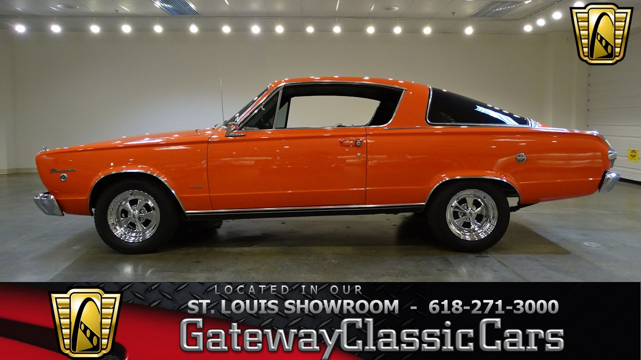 1966 plymouth barracuda stock 7197 gateway classic cars st louis showroom youtube. Black Bedroom Furniture Sets. Home Design Ideas