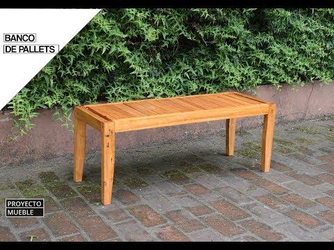 COMO HACER, BANCO DE MADERA CON PALLETS RECICLADOS ( Diy Pallet bench ) - PROYECTO MUEBLE
