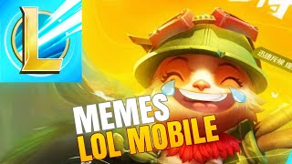RACHEI DE RIR COM MEMES DO LOL MOBILE ‹ League of Legends Wild Rift ›