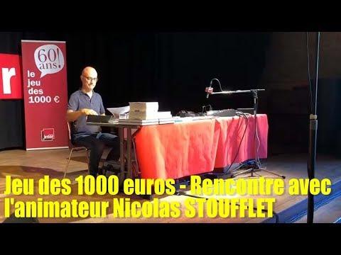sem37   13 sept   Jeu des 1000 euros, rencontre avec l'animateur Nicolas Stoufflet