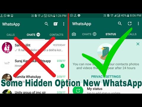Hidden Option WhatsApp