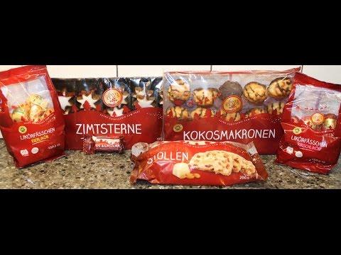 From Germany: Zimtsterne, Stollen, Kokosmakronen, Kirschlikor, Eierlikor & Mini Baumstamm
