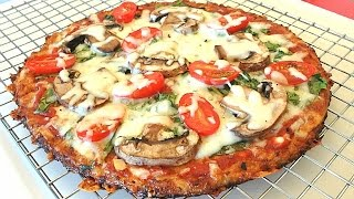 The Best Cauliflower Pizza Crust Recipe That Won't Fall Apart(You can make the best cauliflower pizza crust recipe that will not fall apart. Slice it, hold it, eat it--it keeps it's shape --and it actually tastes like pizza!, 2015-08-28T14:03:06.000Z)