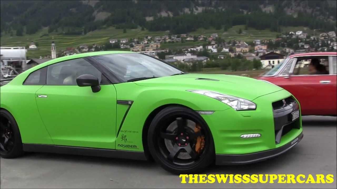Matte Green Novidem Nissan Gtr 750hp Accelerations And