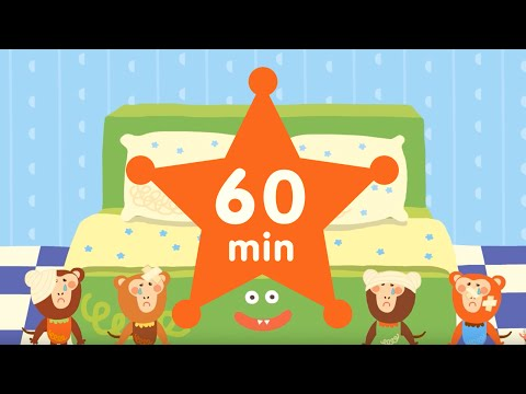【Kid Songs | English Vocabulary】60 min Nursery Rhymes | 5 Little Monkeys + More