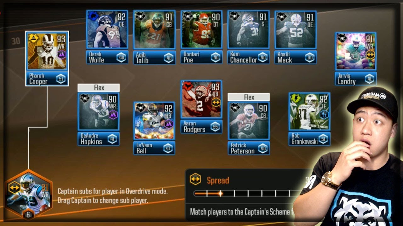 b4b69b855 FULL MOST FEARED LINE UP GAMEPLAY!! MADDEN OVERDRIVE 13 DIAMOND PLAYERS!!
