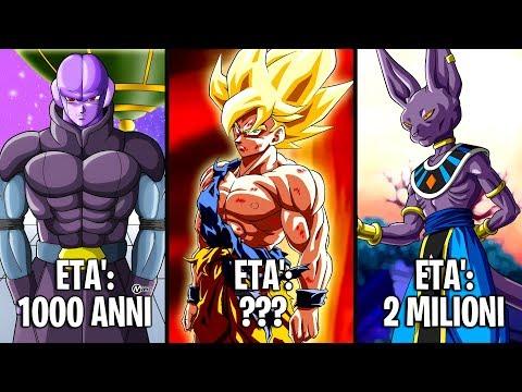 Le ETA' dei PERSONAGGI di Dragon Ball Z, Super e GT
