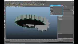 Maya Gear Generator Script Demo