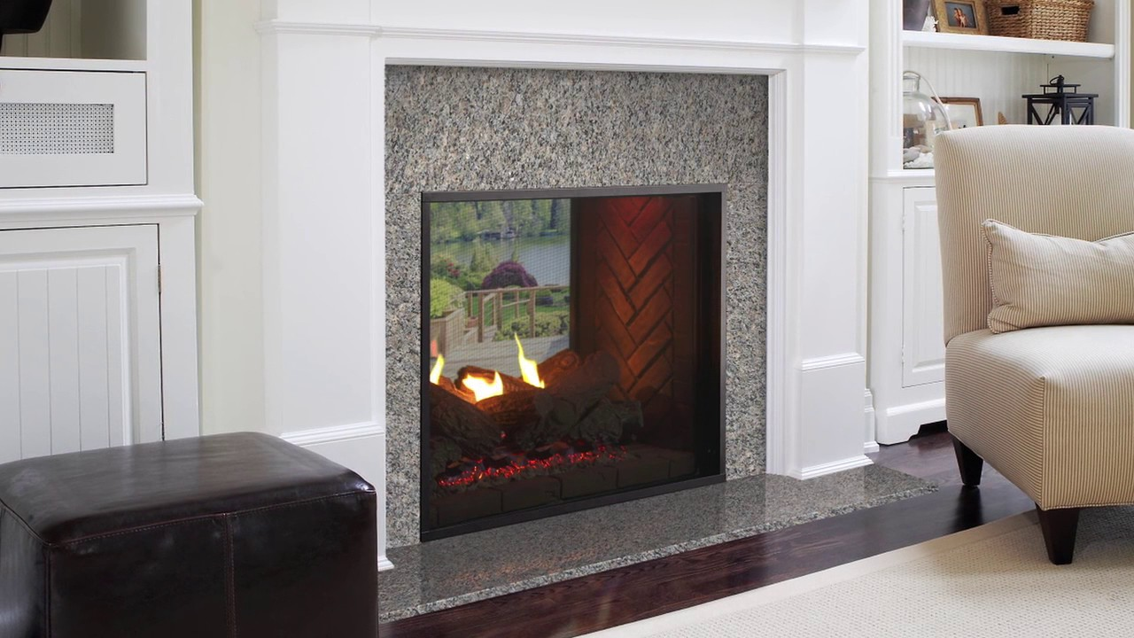 Seamlessly integrate your indoor and outdoor space with the Fortress see-through gas fireplace. The traditional style