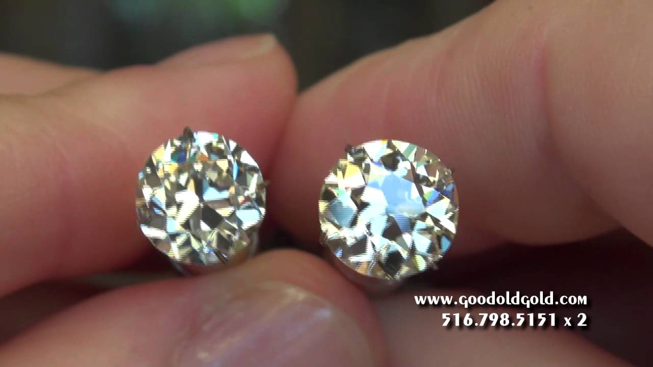 Old European Cut Diamonds 3 1 2ct 5ct In Size Youtube