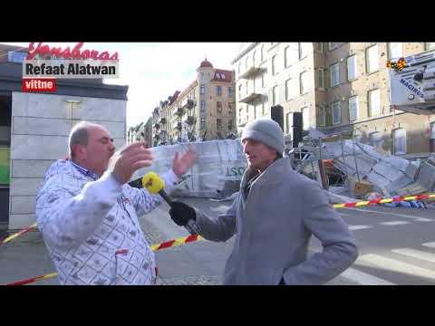 Stor byggnadsställning rasade i centrala Göteborg